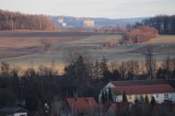 Blick von Mühlsdorf, bis zur Festung Königstein