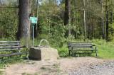 Koordinatenstein in Mühlsdorf, 51. Breiten- und 14. Längengrad